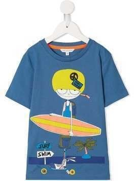 Little Marc Jacobs surfer girl T-shirt - Blue