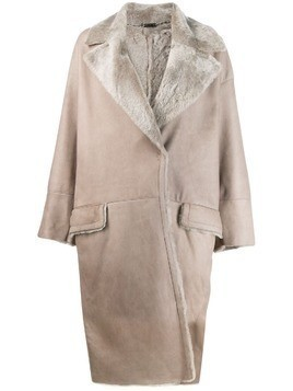 Manzoni 24 oversized trench coat - Grey