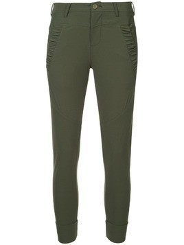 Guild Prime ruched skinny trousers - Green