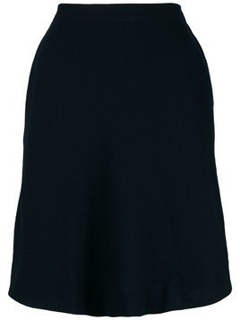 Yves Saint Laurent Pre-Owned asymmetric straight skirt - Blue