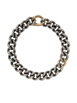 Hum diamond chain bracelet - Silver and gold
