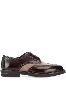 Henderson Baracco colour-block derby shoes - Brown