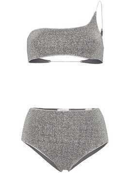 Oseree Lumiere one-shoulder bikini - Silver