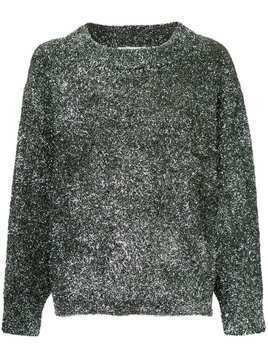 Georgia Alice Sparkle oversized jumper - Metallic