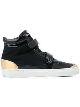 Louis Leeman double strap hi top sneakers - Black