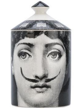 Fornasetti Profumi scented candle with printed casing - Black