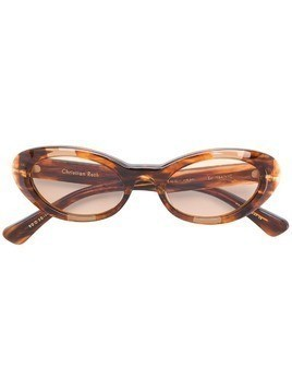 Christian Roth Round Wave sunglasses - Brown