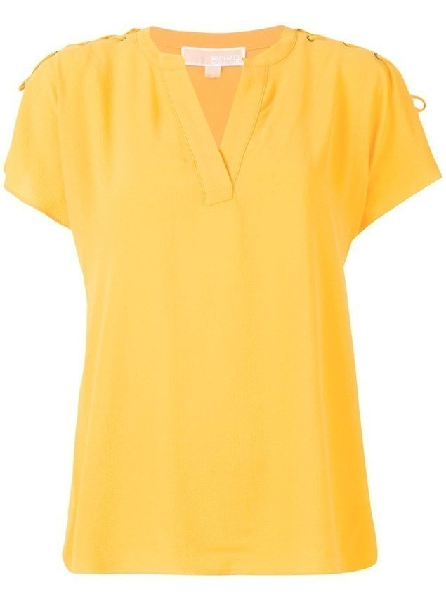 Michael Michael Kors lace-up blouse - Yellow
