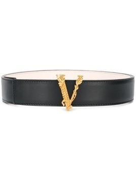 Versace V buckle belt - Black