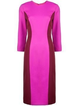 Milly colour block fitted dress - Pink