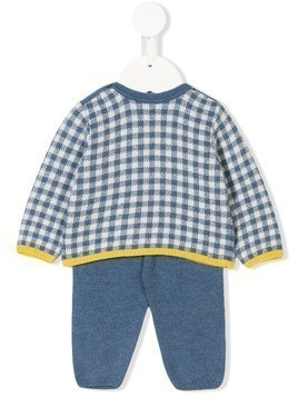 Knot Allure check knitted set - Blue