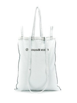 Mm6 Maison Margiela logo shopping tote - Blue