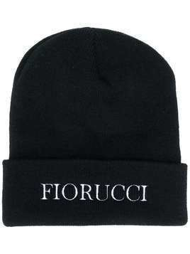 Fiorucci embroidered logo beanie hat - Black