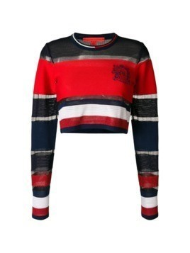 Hilfiger Collection striped cropped jumper - Red