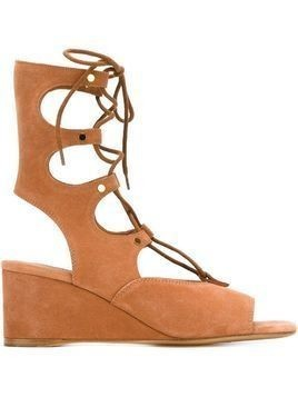 Chloé 'Foster' wedge sandals - Brown