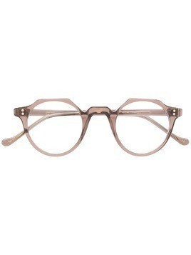 Lesca Heri structured round glasses - Grey