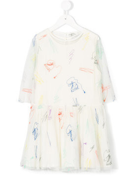 Stella Mccartney Kids Ice Skates embroidered dress - White