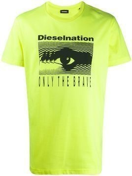Diesel Dieselnation print T-shirt - Yellow