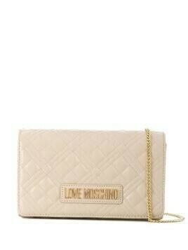 Love Moschino quilted shoulder bag - Neutrals