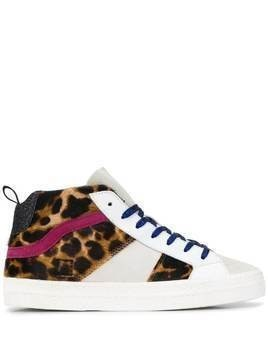 D.A.T.E. Hawk high top sneakers - White