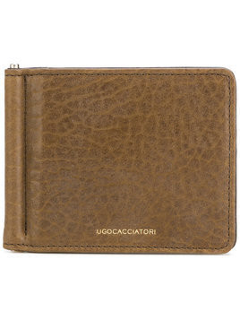 Ugo Cacciatori bill fold wallet - Brown