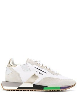 Ghoud colour block sole sneakers - White