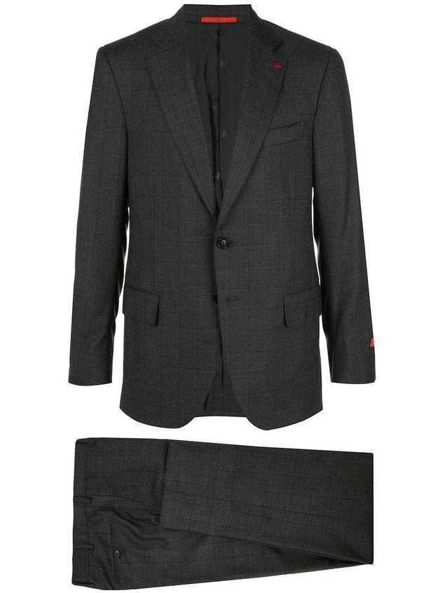 Isaia single breasted blazer suit - Grey