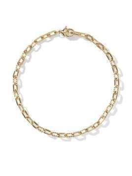 David Yurman 18kt yellow gold DY Madison thin 3mm bracelet - 88