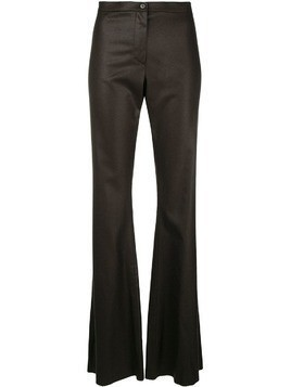 Romeo Gigli Pre-Owned flared tailored trousers - Brown