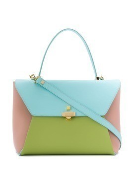 Giancarlo Petriglia Loveletter colour block handbag - Blue