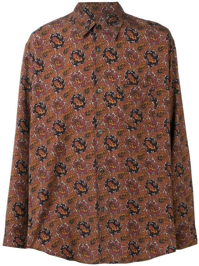 Our Legacy Initial print shirt - Brown