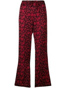 Love Stories floral print pyjama trousers - Black