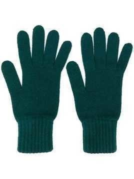 Pringle Of Scotland gloves with ribbed details - Green
