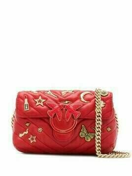 Pinko Love embellished shoulder bag - Red