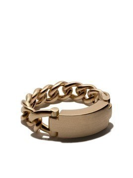 Hum 18kt yellow gold chain link ring