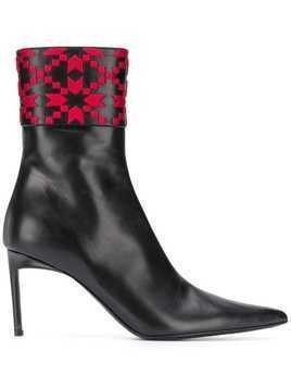 Haider Ackermann embroidered ankle boots - Black