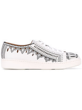 Santoni printed trainers - White