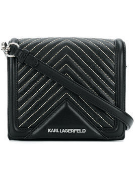 Karl Lagerfeld K/Klassik quilted small crossbody bag - Black