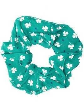 Andamane floral print scrunchie - Green