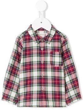 Bonpoint Malo checked shirt - Red