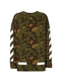 Off-White military stripe sweater - Green