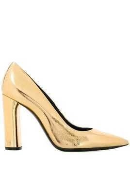 Casadei metallic pointed toe pumps - Gold