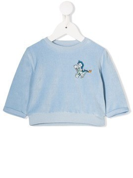 Stella McCartney Kids velour sweatshirt - Blue