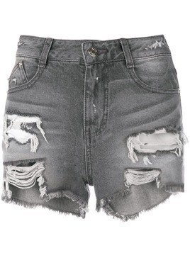 SJYP cut off denim shorts - Grey