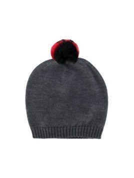 Dolce & Gabbana Kids knitted hat - Grey