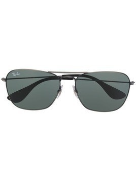 Ray-Ban rectangular double-bridge sunglasses - Silver