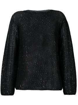 M Missoni metallic glitter knitted jumper - Black