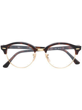 Ray-Ban Clubround round-frame glasses - Brown