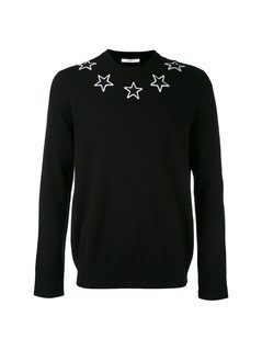 Givenchy star embroidered sweater - Black