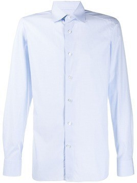 Ermenegildo Zegna slim fit button shirt - Blue